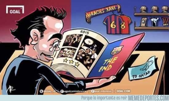 576751 - Xavi se va del Barça de la mejor forma posible