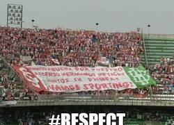 Enlace a Pancarta en el estadio del Real Betis