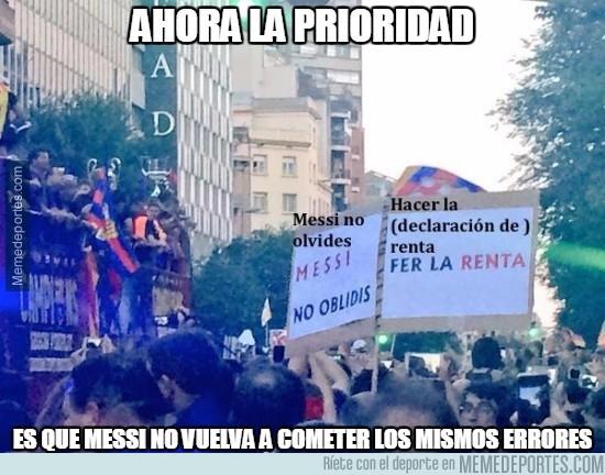 577914 - La pancarta que había en la celebración del Barça