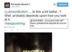Enlace a Alonso no pierde el humor: todo depende de cómo se mire