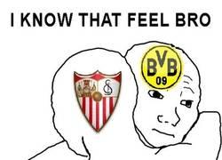 Enlace a Al Sevilla y el Borussia les pasa lo mismo con el Barça y el Bayern