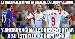 Enlace a El Sevilla abusando del Dnipro