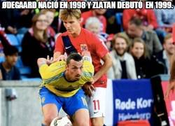Enlace a Ødegaard nació en 1998 y Zlatan debutó en 1999