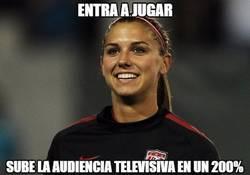 Enlace a Alex Morgan es la Messi del fútbol femenino