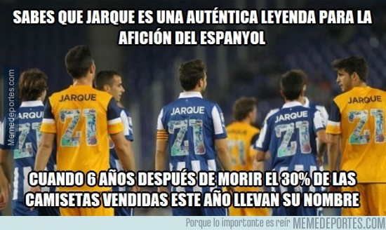 579485 - Dani Jarque, el jugador que más camisetas vende en el Espanyol