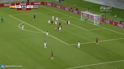 Enlace a GIF: Histórico. El primer gol de España en un Mundial femenino. Obra de Vicky Losada