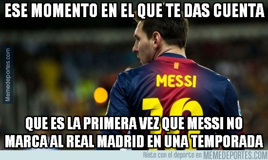 579959 - Messi se ha quedado sin mojar frente al Madrid