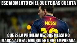 Enlace a Messi se ha quedado sin mojar frente al Madrid