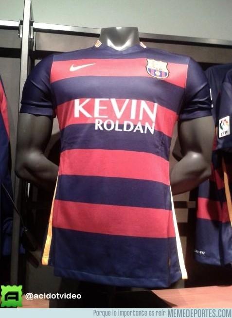 580769 - Kevin Roldán, nuevo sponsor en la camiseta del Barça 2016. Contigo empezó todo