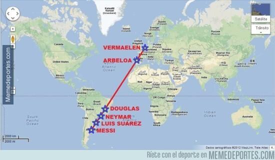 582117 - Mapa lineal definitivo del fútbol