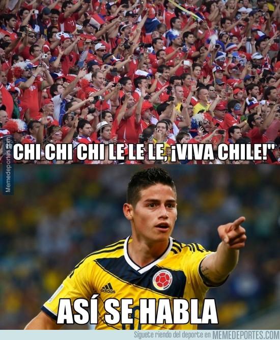 584985 - A James le gusta la afición de Chile