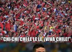 Enlace a A James le gusta la afición de Chile