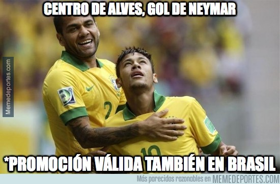 586161 - Vaya dupla la de Alves-Neymar
