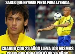Enlace a Sabes que Neymar pinta para leyenda...