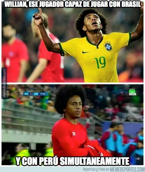 586642 - Willian, ese jugador capaz de jugar con Brasil y con Perú