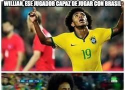 Enlace a Willian, ese jugador capaz de jugar con Brasil y con Perú