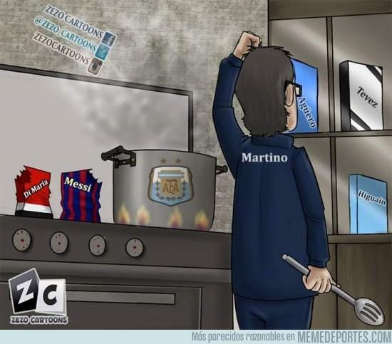588995 - ¿Quién debería acompañar a Messi y Di María en ataque?