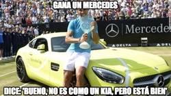 Enlace a Gana un Mercedes, pero nada como un Kia, ¿no Nadal?