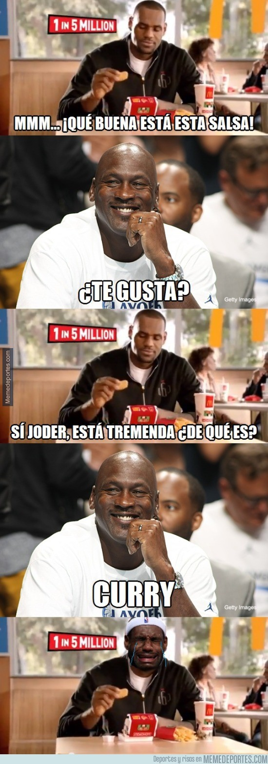 589715 - LeBron James y su nueva salsa favorita