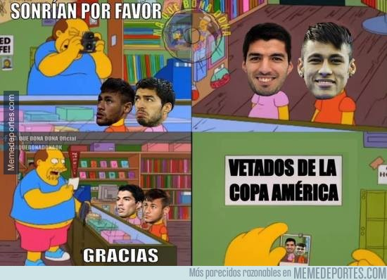 593980 - Neymar y Luis Suárez en la Copa América