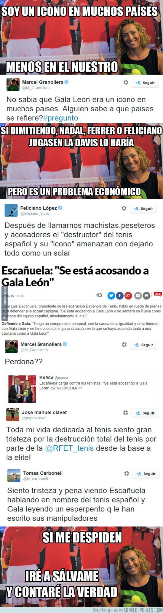598853 - La polémica con Gala León: los tenistas contraatacan
