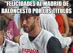 Enlace a Ramos también felicita al Madrid de baloncesto