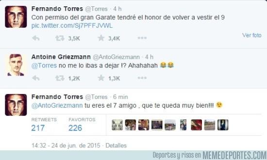599084 - El buen rollo entre Torres y Griezmann en Twitter