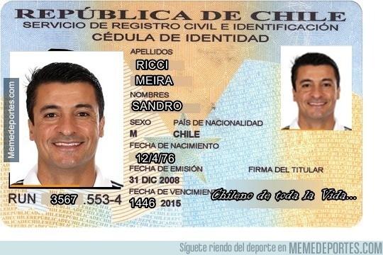 599603 - El DNI del arbitro Chile-Uruguay