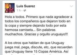 Enlace a Luis Suárez no sabe perder y la lía en las redes sociales