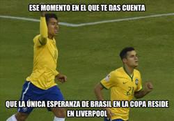 Enlace a Brasil deposita su fe en Coutinho y Firmino