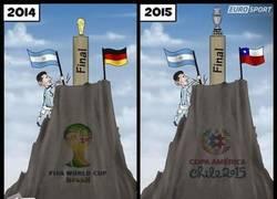 Enlace a Messi liderando a Argentina