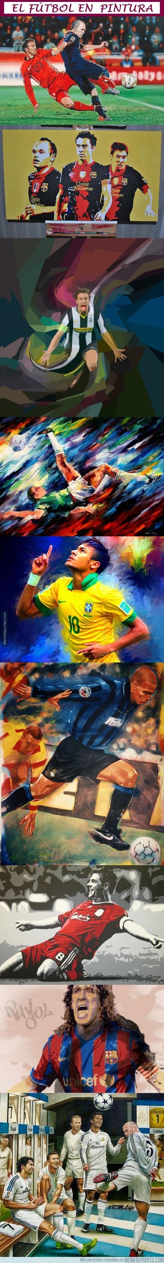 610719 - El fútbol en pintura, cuando dos artes se unen