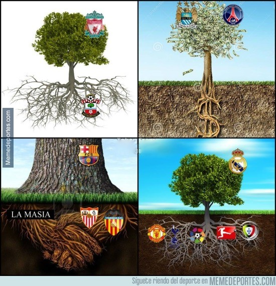 611996 - Sí los equipos de futbol fueran árboles