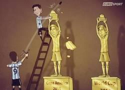 Enlace a Messi en las 2 últimas finales con Argentina