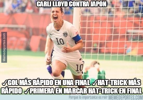 616654 - Carli Lloyd haciendo historia en el Mundial Femenino