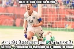 Enlace a Carli Lloyd haciendo historia en el Mundial Femenino
