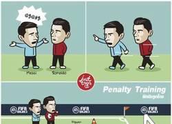 Enlace a Cristiano y Messi entrenan a Higuaín y Ramos a tirar penaltis