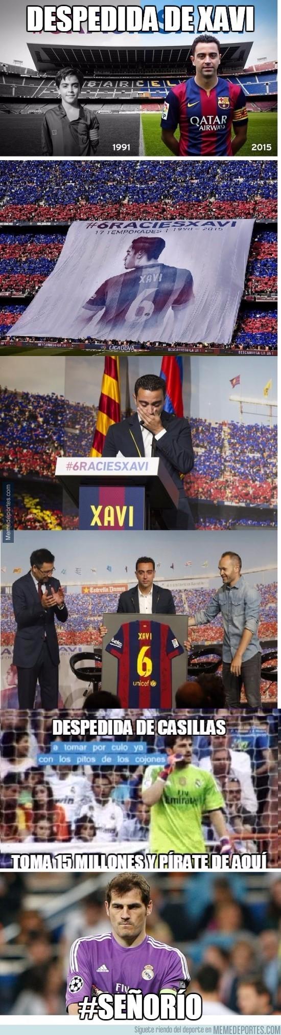 618136 - Diferencias entre las despedidas de Xavi y de Casillas