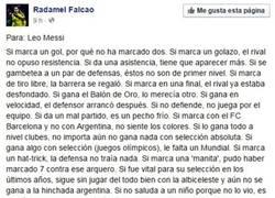 Enlace a RESPECT: Gran mensaje de Falcao a Messi