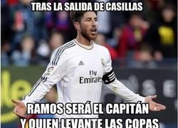 Enlace a Ramos levantará las copas del Madrid