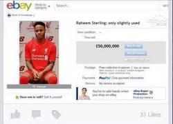 Enlace a Los aficionados del Liverpool FC han puesto en venta a Raheem Sterling en eBay