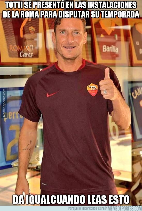 621092 - Totti se presentó en las instalaciones de la Roma para empezar su temporada