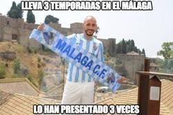 Enlace a Lleva 3 temporadas en el Málaga