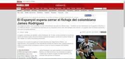 Enlace a Ese momento en el que te das cuenta que hace 5 años James Rodríguez casi ficha por el Espanyol