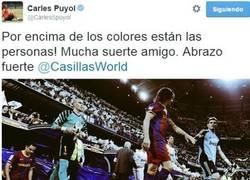 Enlace a Puyol desea suerte a Casillas
