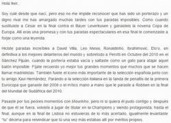 Enlace a RESPECT: Emotiva carta de un culé a Iker
