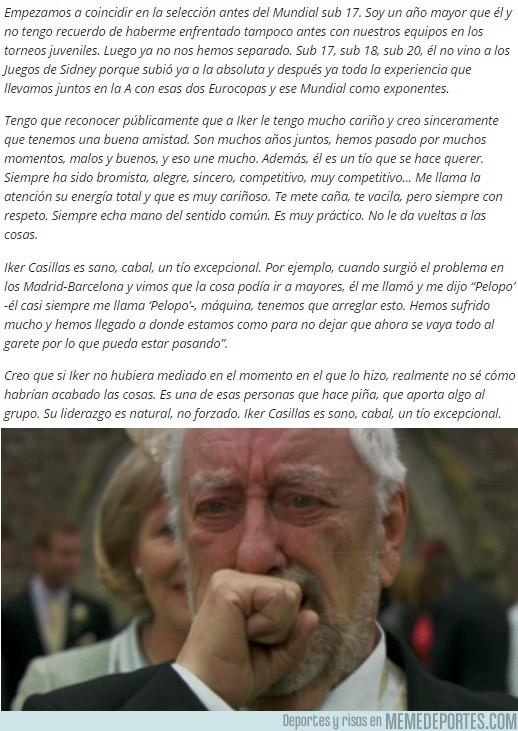 623166 - La emotiva carta de Xavi a Casillas