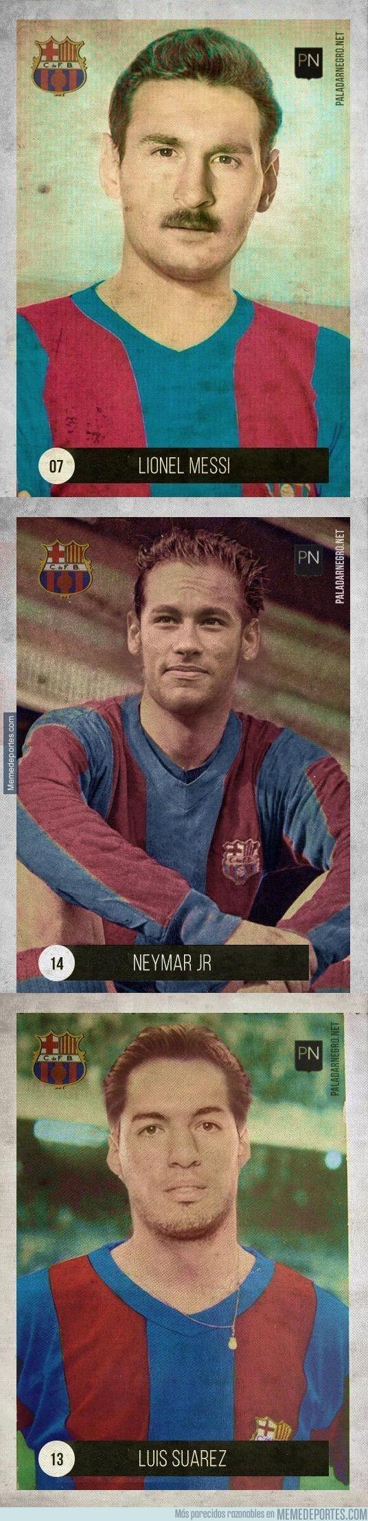 623954 - Tridente del Barça versión retro