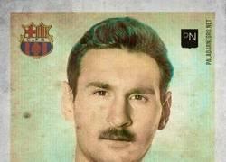 Enlace a Tridente del Barça versión retro