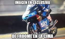 Enlace a Imagen en exclusiva de Froome en la cima